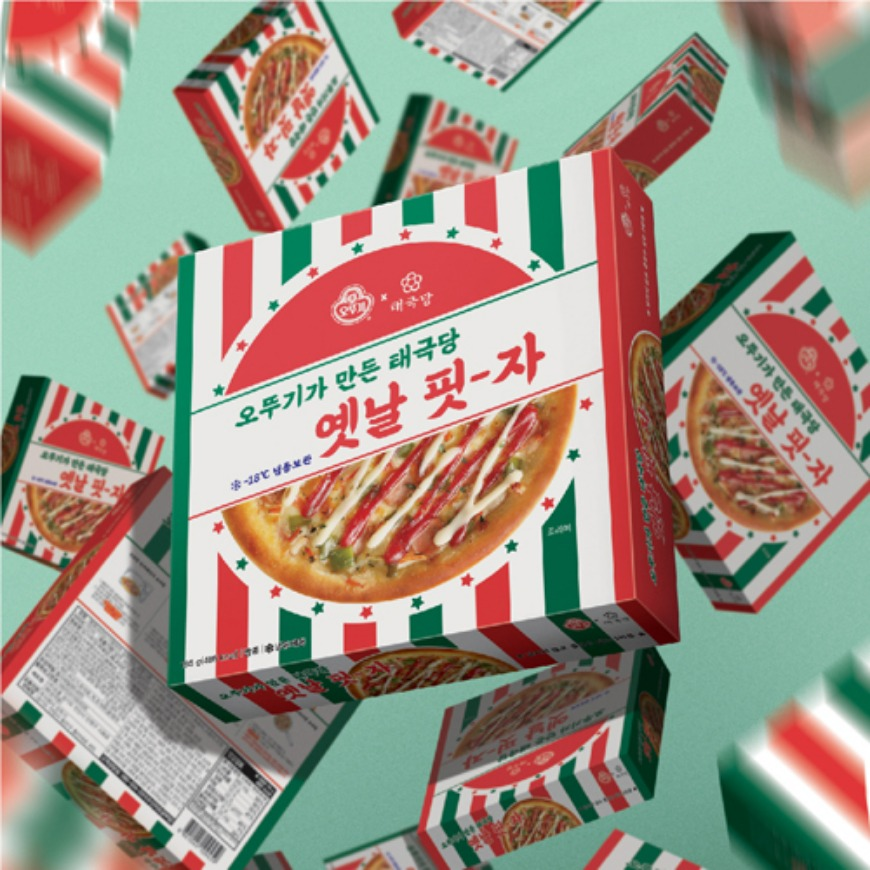 [Package design] Pizza package for Taegeukdang X Ottogi