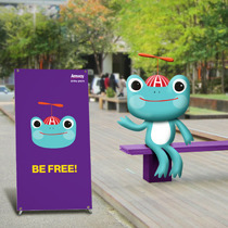 [Advertising] Campaign for Amway a Thinking Blue frog
